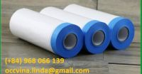 Outdoor Blue Paper Taped Masking Film