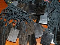 Bog Oak Pendants for custom laser engraving - Bog Wood Pendants