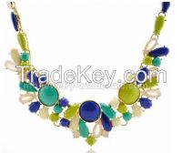 Resin Beads Choker Necklace
